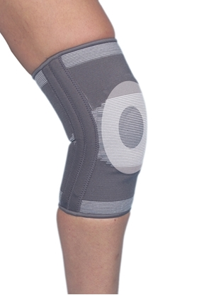 Attēls Elastic Knee brance with gel insert and metal strips (P509)
