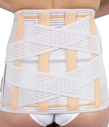Attēls Semi-rigid lumbosacral high back support (112, 212)